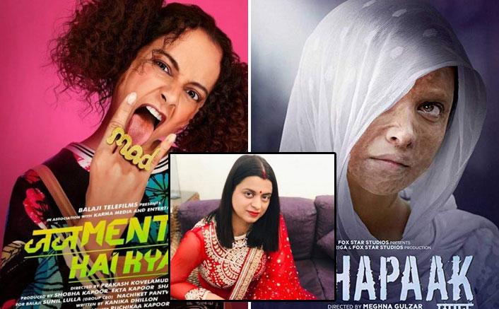 Kangana Ranaut's Sister Rangoli Slams Bollywood Again As Judgementall Hai Kya's Day 1 Collection Are More Than Deepika Padukone's Chhapaak