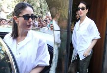 Looking For A Valentine's Brunch Date Dress? Kareena Kapoor's White Shirt With Camouflage Pants Perfectly Fits The Bill