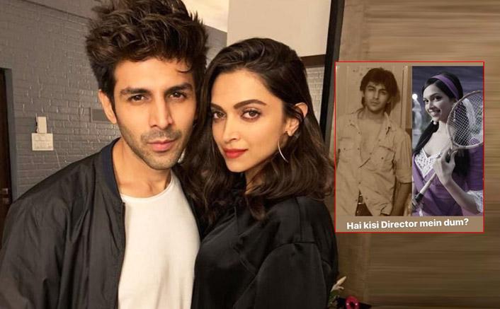 "Kartik Aaryan Shares A Collage Picture With Deepika Padukone's Om Shanti Om & Says, ""Hain Kisi Director Mein Dum?"""