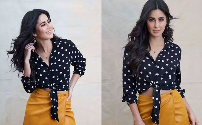 Katrina Kaif's Polka Dot Crop Top & Short Skirt Are The Apt Casuals For A Brunch Date