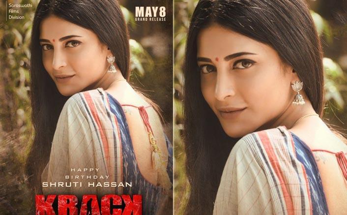 Krack Poster: Birthday Girl Shruti Haasan Looks Drop Dead Gorgeous In Her Desi Avatar From Ravi Teja's Action Thriller