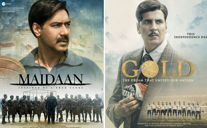 Maidaan Poster Brings Ajay Devgn VS Akshay Kumar With This Uncanny Resemblance With One Of Khiladi's Existing Posters