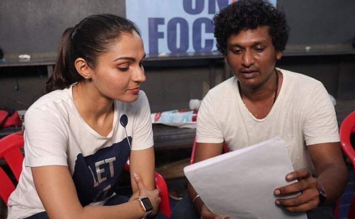 Master: Andrea Jeremiah Shares A BTS Picture With Director Lokesh Kanagaraj From the Sets Of Thalapathy Vijay Starrer