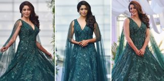 Nehha Pendse Looks Ethereal In A Forest-Green Gown For Her Engagement With Shardul Singh Bayas
