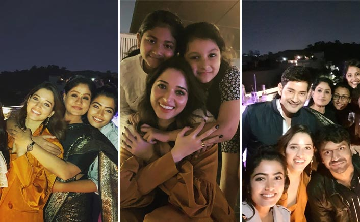 Pics: Tamannaah Bhatia With Mahesh Babu, Rashmika Mandanna & Team 'Sarileru Neekevvaru' From A Party After Pre-Release Event Of The Film