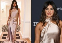 Priyanka goes beige & satin for pre-Grammy bash