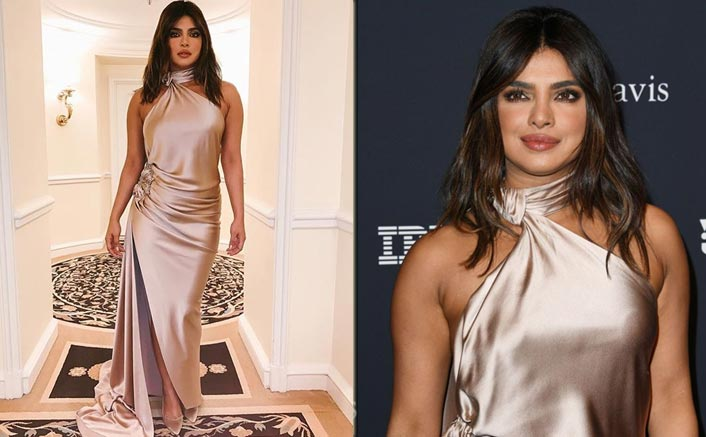 Priyanka Chopra's Satin Gown Makes The Perfect Attire For A Wedding Reception, Take Notes!