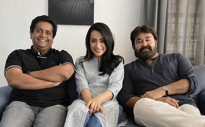 Ram: Trisha Krishnan Chills With Mohanlal & Jeethu Joseph On Sets Of Their Action Thriller