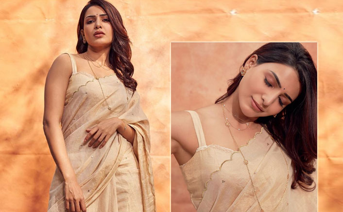 Samantha Akkineni's Ivory Tissue Silk Saree Is A Must Have In Your Wardrobe