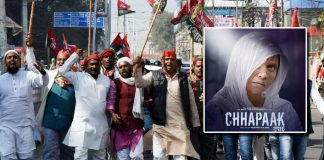 SP workers to watch 'Chhapak', Cong posters support