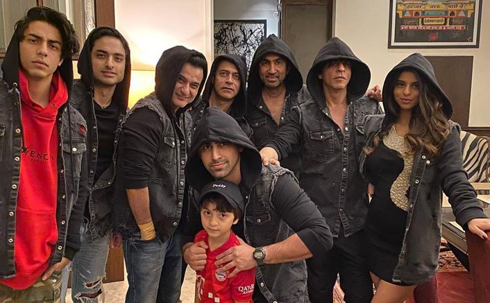 SRK, Suhana, Aryan spotted twinning in black jackets at New Year bash