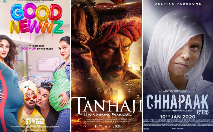 Tanhaji Gets An Upper Hand Over Chhapaak In Screen Count;Good Newwz Retains A Good Chunk