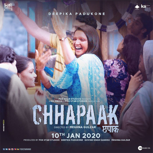 """Unfettered. Uninhibited. Unputdownable"", Deepika Padukone flashes the triumphant smile of Malti on the all-new poster of 'Chhapaak'; Check out!"