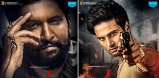 'V' First Look Posters: Sudheer Babu As 'Saviour' & Nani As 'Devil' Look Intense Yet Intriguing