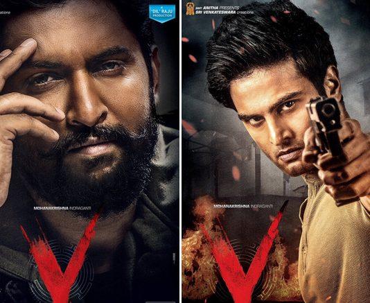 'V' First Look Posters: Sudheer Babu As 'Saviour' & Nani As 'Devil' Look Intense Yet Intriguing