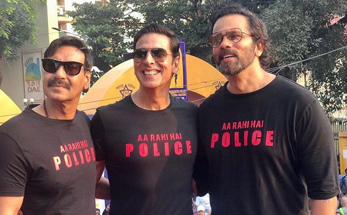 Akshay Kumar, Ajay Devgn attend Maha police marathon