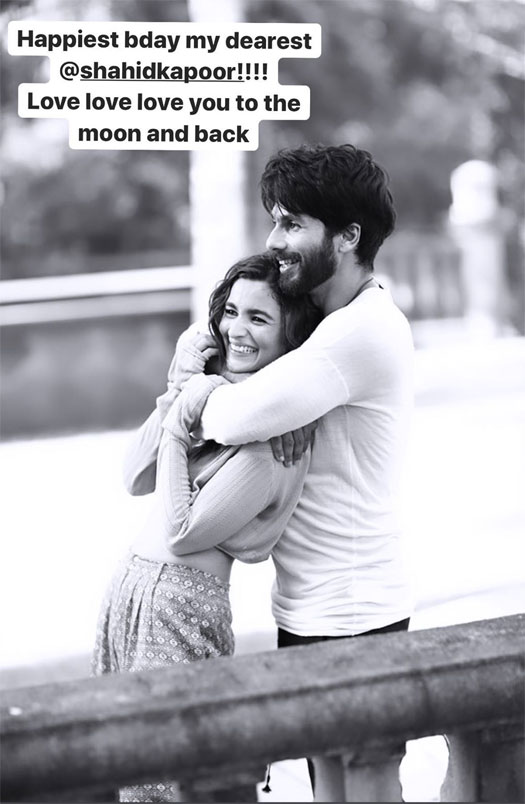 """Alia Bhatt Wishes Shahid Kapoor A Happy Birthday In Most Endearing Way, Says """"Love Love Love To The Moon & Back!!"""""""