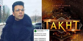 #BoycottTakht Trends After Writer Of Karan Johar's Film Hussain Haidry Addresses Hindus As 'Terrorists'