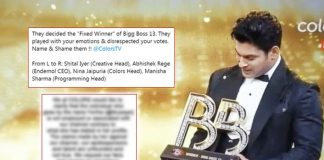 BREAKING! Bigg Boss 13: Colors TV Release Official Statement Against Claims Of Being Biased!