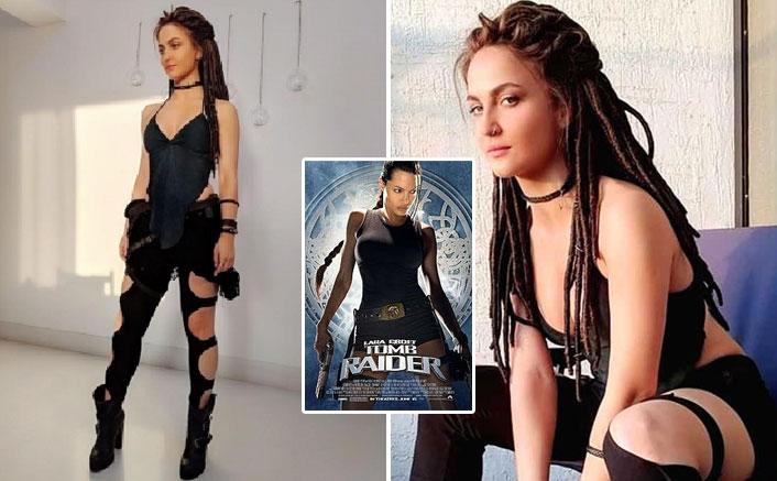 WHOA! Fans Resonate Elli AvRam's Malang Look With Angelina Jolie's Tom Raider