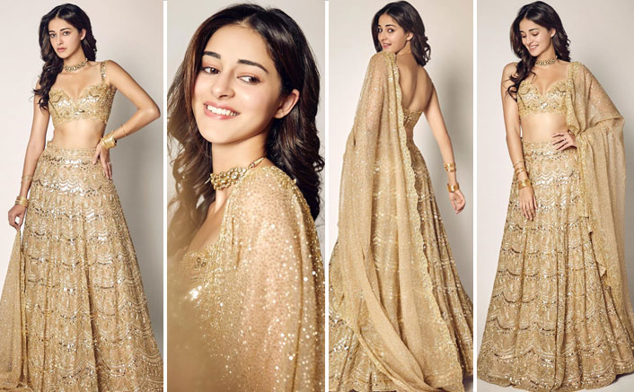 Gold-kissed and dazzling! Ananya Panday's golden lehenga is major fashion goals