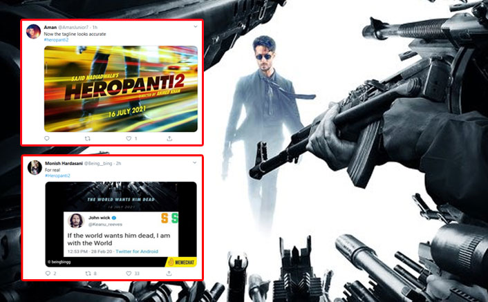 Heropanti 2 Posters Turn Into A Meme Fest, Netizens Slam Tiger Shroff For Copying John Wick