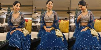Hina Khan's Royal Blue Lehenga Is A Must Have For All The Ladies On A Sangeet Night!