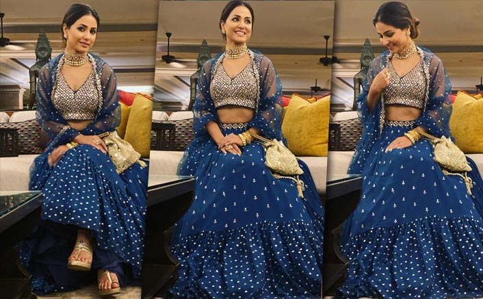 Hina Khan's Royal Blue Lehenga Is A Must Have For All The Ladies This Wedding Season!