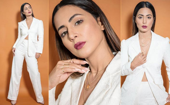 Hina Khan's White Pantsuit Makes For Classic Office Party Attire; Take Notes!