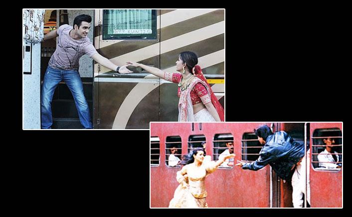 Ishita Dutta recreates DDLJ train scene with co-star Adhik Mehta