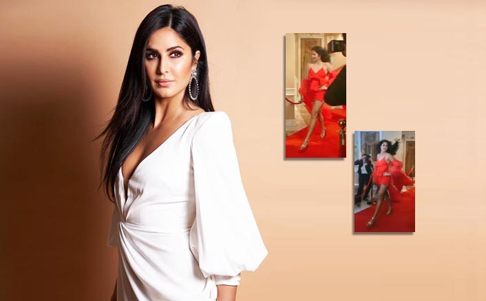 Katrina Kaif Dazzles In Red Gown With A Magical Cape On the Red Carpet, Can You Guess What Is It For!