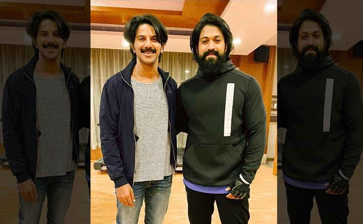 KGF Star Yash & Kurup Actor Dulquer Salmaan Shine Bright As They Pose For A Cool Picture