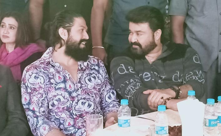 KGF Star Yash & Mohanlal Bond With Each Other At An Event, Pics Go Viral