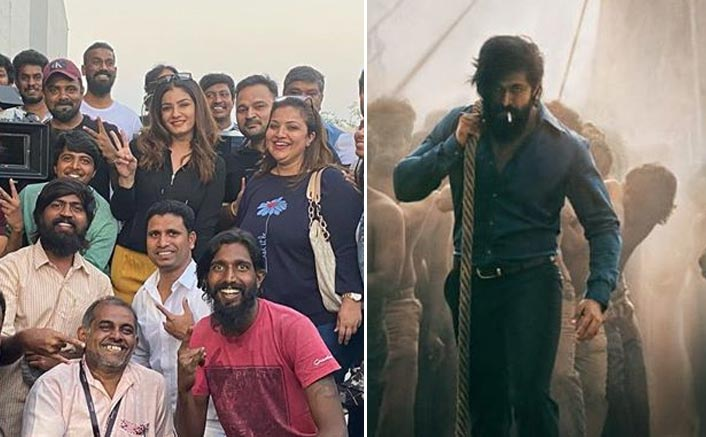 KGF 2: Raveena Tandon Enjoys Gala Time Post The Wrap Up Of Yash Starrer In Hyderabad