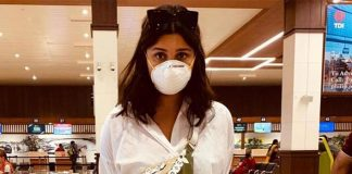 Parineeti dons a mask to protect against coronavirus