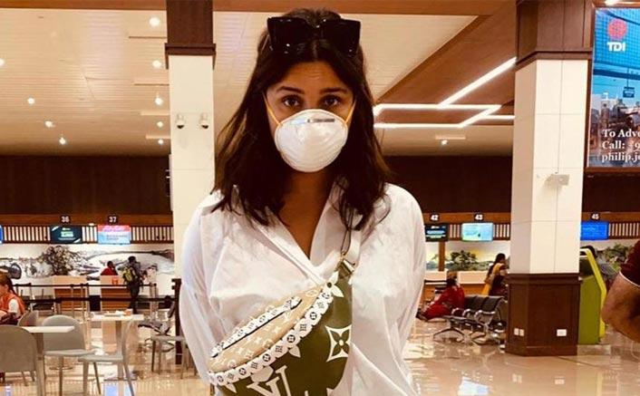 Parineeti dons a mask to protect against coronavirus