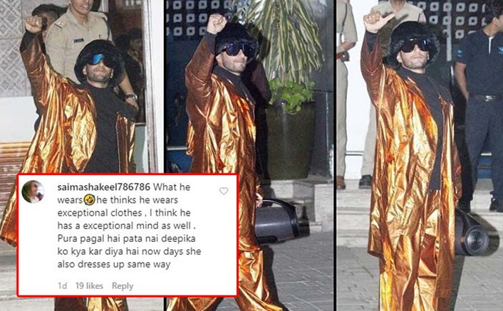 "Ranveer Singh Gets Trolled For His Shiny Outfit, Fans Say ""Dairy Milk Ke Cover Ko Bhi Nahi Chhoda"""