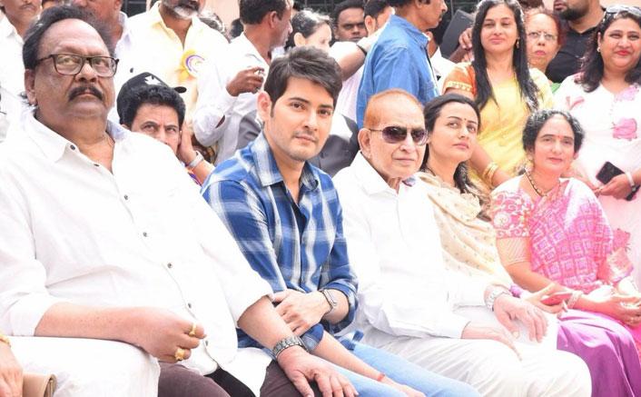 Superstar Mahesh Babu present at the inaugural ceremony of actress Vijaya Nirmala's statue