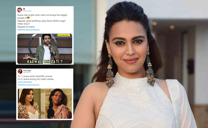 #MathematicianSwara: Swara Bhasker Gets Trolled For Her 'Was 15-Year-Old In 2010' Comment During CAA-NRC Heated Discussion!