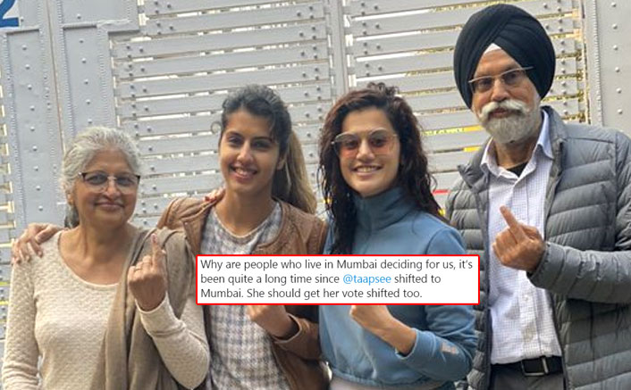 Taapsee Pannu Trolled For Voting In Delhi Elections; The Thappad Actress' Response Is Powerful!