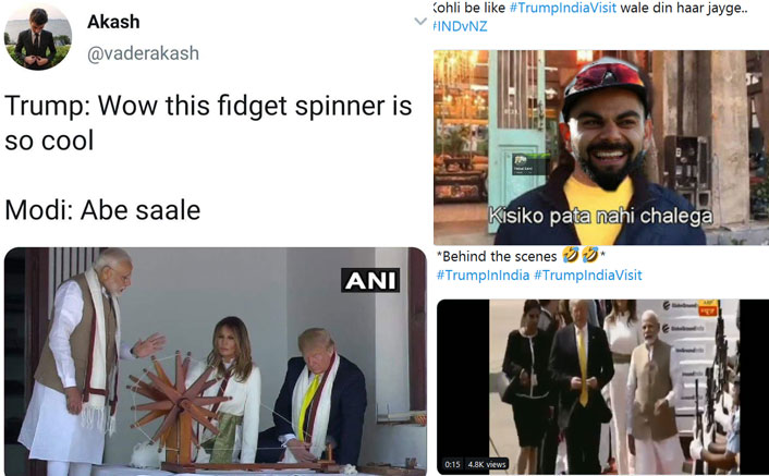 #TrumpIndiaVisit: MEME Makers back To Kickass Work As Narenda Modi Welcomes US President Donald Trump & Wife Melania