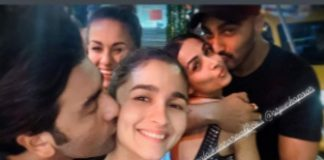 OMG! Ranbir Kapoor Kissing Alia Bhatt In This Throwback Picture Alongside Arjun Kapoor & Malaika Arora Is Love Overdose