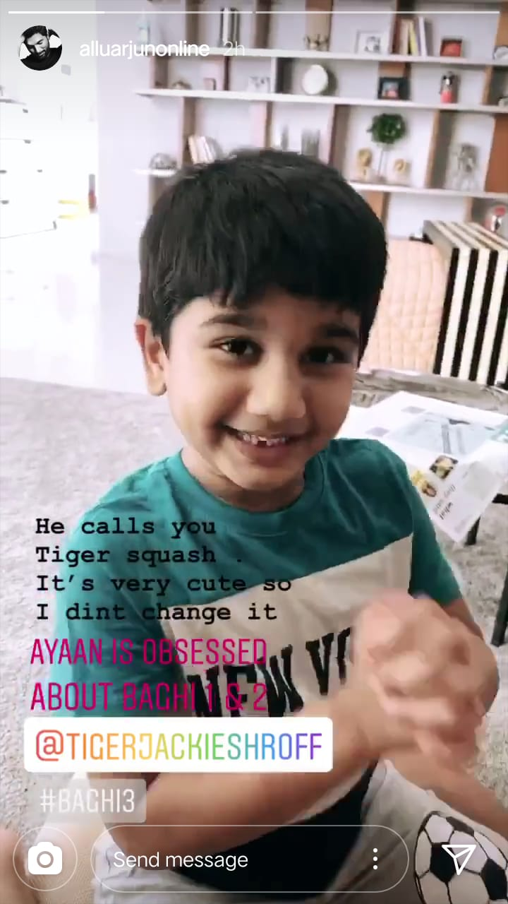 Allu Arjun's Son Ayaan Has THIS Cute Name & Request For Tiger Shroff, Baaghi 3 Actor In Return Has This Adorable Reply