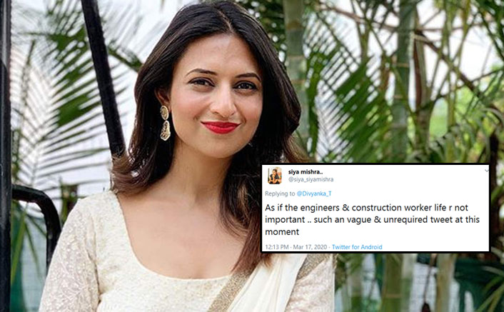 Divyanka Tripathi Mercilessly Trolled Over Coronavirus Tweet; Deletes Her Post