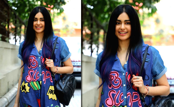 Adah Sharma's Simple Denim Dress With Catchy Graphiti Is Perfect For Your Weekend Outings