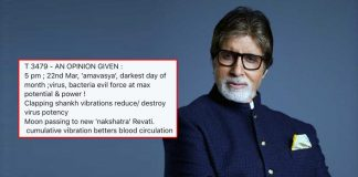 Amitabh Bachchan's Superstitious Tweet On Coronavirus Calls For Massive Backlash; Ends Up Deleting It