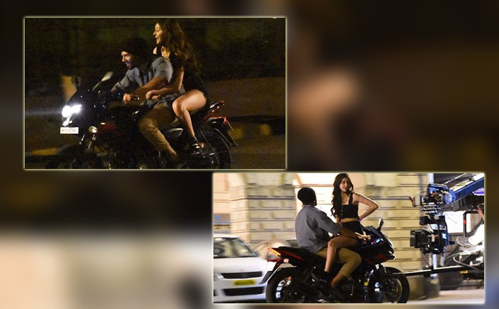 Ananya Panday & Vijay Deverakonda Head Out On A Bike Ride As They Shoot For Their Pan India Film In The City, Pics Out
