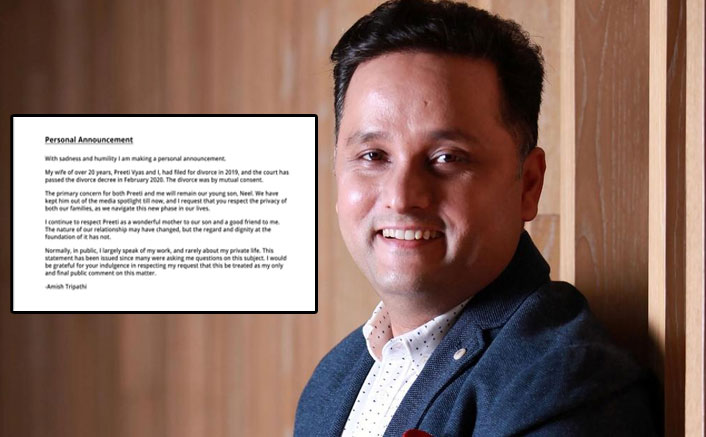Author Amish Tripathi's 'personal announcement' on divorce