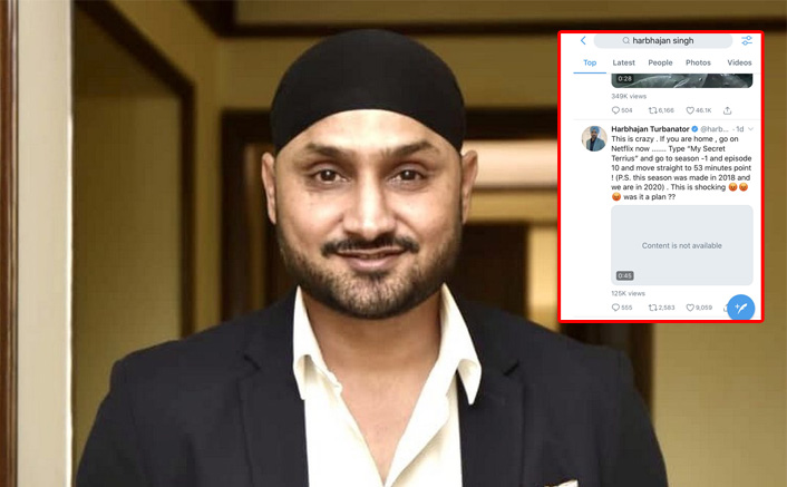 Harbhajan Singh Posts The Viral Clip Of My Secret Terrius Predicting COVID-19; Video Gets Deleted From Twitter