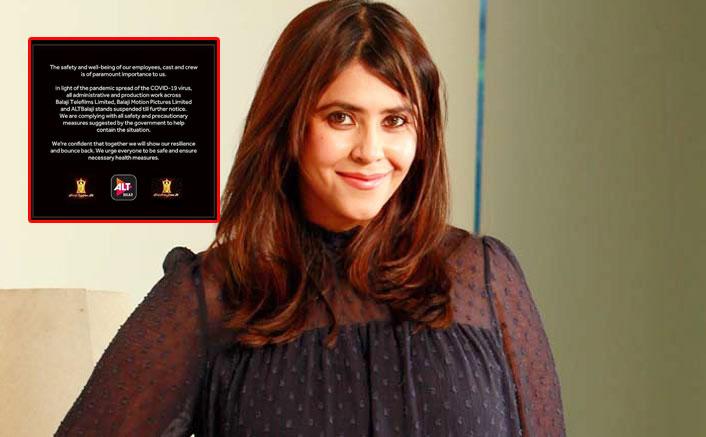 Coronavirus Pandemic: Ekta Kapoor Shuts The Doors Of Balaji Telefilms Says Safety Of Employees & Crew Paramount